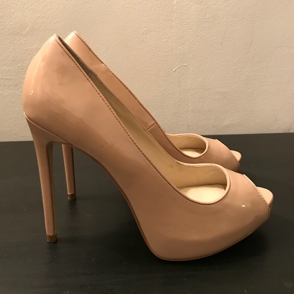 36c3659234 Zara Shoes | Peep Toe Platform Pump Heels In Nude Beige | Poshmark